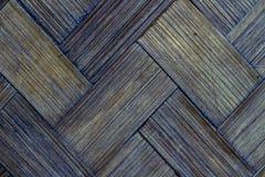 Geweven patroonachtergrond van oude bamboemuur Royalty-vrije Stock Fotografie