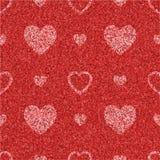 Geweven rood naadloos patroon met harten royalty-vrije illustratie