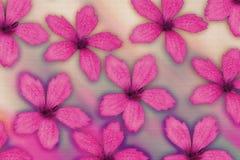 Geweven roze bloemen Royalty-vrije Stock Foto