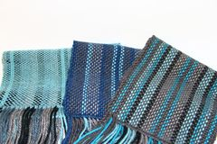 Geweven sjaals Stock Afbeeldingen