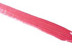 Geweven Slag van roze vloeibare Lippenstift stock afbeelding