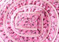 Geweven stof met bloempatroon Royalty-vrije Stock Afbeelding