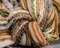 Geweven Textielknoop stock foto's