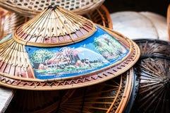 Geweven Thaise hoeden Stock Afbeelding