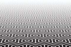 Geweven zeshoekenoppervlakte. Abstracte geometrische achtergrond. Stock Afbeelding
