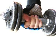 Gewicht in der Hand Stockbilder