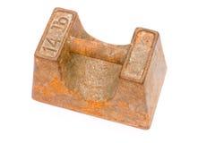 Gewicht des Eisens 14lb stockfotos