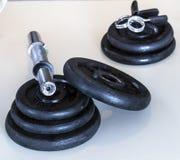 Gewicht dumbells Lizenzfreies Stockbild