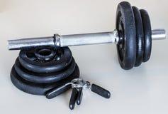 Gewicht dumbells Lizenzfreie Stockfotos