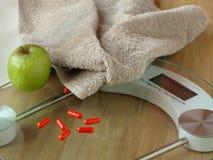 Gewicht los door dieetpillen Stock Fotografie