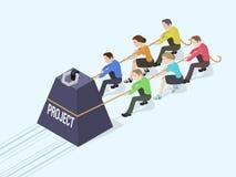 Gewicht mit der Projektaufschrift lizenzfreie abbildung