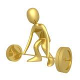 Gewicht-Opheft sporten - royalty-vrije illustratie