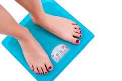 Gewicht-Skala Stockfoto