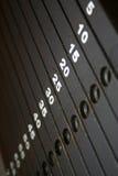 Gewicht-Stapel-Skala Stockfotos