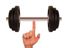 Gewicht (Superfinger) stockbilder