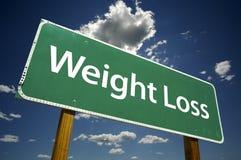 Gewicht-Verlust - Verkehrsschild stockfotografie