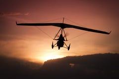 Gewicht-verschuiving ultralight vliegtuigen Royalty-vrije Stock Fotografie