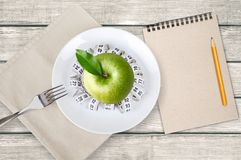 Gewicht, vrouw, plan Royalty-vrije Stock Fotografie