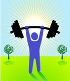 Gewichtanheben Stockbild