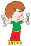 Gewichtanheben Stockfoto