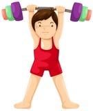 Gewichtanhebenspieler Lizenzfreie Stockfotografie