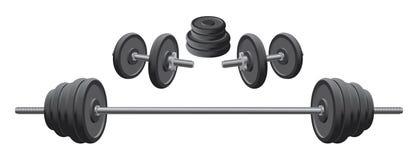 Gewichte stock abbildung