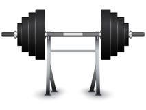 Gewichte auf Support Lizenzfreies Stockbild