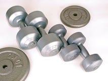 Gewichte für Übung Stockfotografie