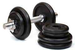 Gewichte, getrennt Stockfoto