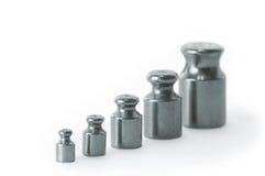 Gewichten van verschillende grootte Royalty-vrije Stock Afbeelding