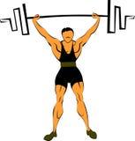 Gewichtheben mit einem Barbell Stockfoto