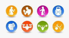Gewichtheben und Eignung Lizenzfreie Stockfotos