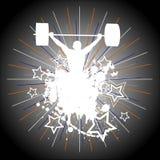 Gewichtheffen. vector illustratie