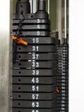 Gewichtmaschinenauswahl Stockbilder