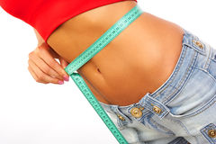 Gewichtmessen Stockfoto