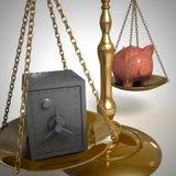 Gewichtquerneigungen und -safes Stockbild