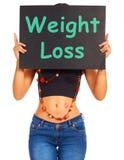 Gewichts-Verlust-Zeichen-Shows, die Rat nähren Stockbild