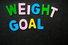 Gewichts-Ziel Lizenzfreie Stockbilder