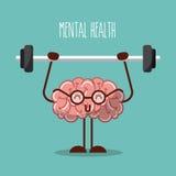 Gewichtsbild des Gehirns der psychischen Gesundheit anhebendes lizenzfreie abbildung