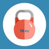Gewichtsikone Rotes Gewicht auf einem blauen Hintergrund Ein Ski Auch im corel abgehobenen Betrag Stockbilder