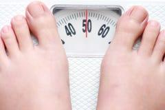 Gewichtskala Stockfoto