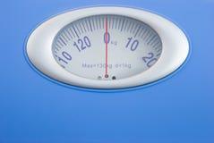 Gewichtsskala Stockfoto