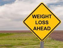 Gewichtsverlies die vooruit waarschuwen Stock Foto