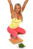 Gewichtsverlust mit gesunder Nahrung lizenzfreies stockfoto