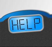 Gewichtsverlust zeigt die diätetische Unterstützung und Hilfe an Lizenzfreie Stockbilder