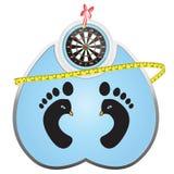 Gewichtsverlust-Ziele Stockbild