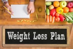 Gewichtsverlustplan stockfotografie