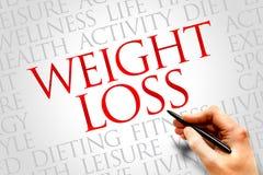 Gewichtverlust Frauentorso mit dem Maß, getrennt auf Weiß Lizenzfreies Stockfoto