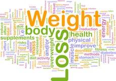 Gewichtverlust-Hintergrundkonzept vektor abbildung