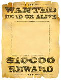 Gewilde affiche Royalty-vrije Stock Afbeeldingen